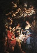 RUBENS, Pieter Pauwel Adoration of the Shepherds af oil painting picture wholesale