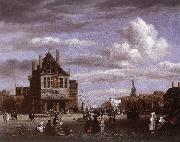RUISDAEL, Jacob Isaackszon van The Dam Square in Amsterdam oil painting picture wholesale