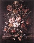 RUYSCH, Rachel Bouquet in a Glass Vase dsf oil painting picture wholesale