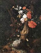 RUYSCH, Rachel Flowers on a Tree Trunk af oil painting picture wholesale