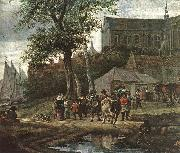 RUYSDAEL, Salomon van Tavern with May Tree (detail) af oil painting picture wholesale