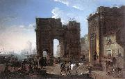 SALUCCI, Alessandro Harbour View with Triumphal Arch g oil painting picture wholesale