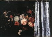 Flower Still-Life with Curtain  uig