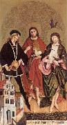STRIGEL, Hans II Sts Florian, John the Baptist and Sebastian wr oil painting picture wholesale