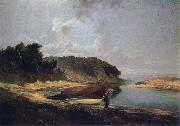 A.K.Cabpacob Landscape oil painting