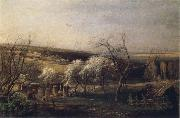 A.K.Cabpacob Landscape of Country oil painting