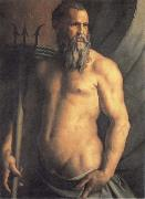 Agnolo Bronzino Portrait des Andrea Doria als Neptun oil painting reproduction