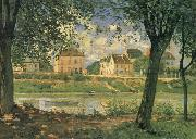 Alfred Sisley Villeneuve la Garenne on the Seine oil painting reproduction