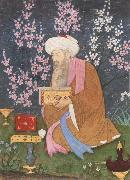 Ali of Golconda Poet in a garden oil painting reproduction