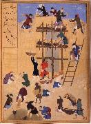 Bihzad Building ot Castle Khawarnaq,wherein the chamber of the seven icons will be hidden oil painting