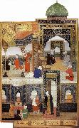 Bihzad A dervish begs to be admitted in the mosque oil painting reproduction