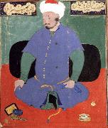 Bihzad Portrait of the Uzbek emir Shaybani Khan,seen here wearing a Sunni turban oil painting reproduction