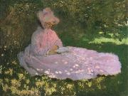 A Woman in a Garden,Spring time