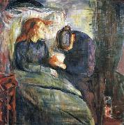 Edvard Munch The Sick girl oil painting reproduction