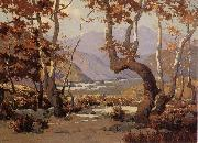 Elmer Wachtel Golder Autumn,Cajon Pass oil painting