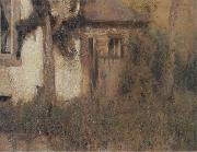 Fernand Khnopff In Fosset The Farmhouse Garden oil painting reproduction