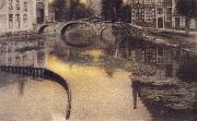Fernand Khnopff Memory of Bruges,The Entrance of the Beguinage oil painting artist