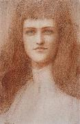 Fernand Khnopff Head of a Young Englishwoman oil painting on canvas