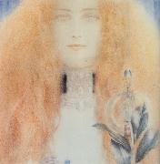 Fernand Khnopff Head of a Woman oil painting reproduction