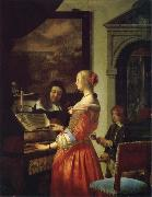 Frans van mieris the elder The Duet oil painting