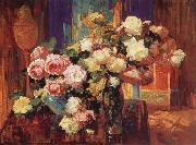 Franz Bischoff Roses n-d oil painting