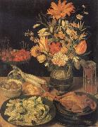 Georg Flegel Still Life with Flowers and Food oil painting reproduction