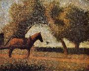 Georges Seurat The Harness Carriage oil painting