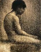 Georges Seurat The seated Teenager oil painting