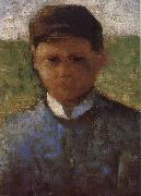Georges Seurat The Samll Peasant  in  blue oil painting