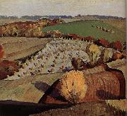 Grant Wood Landscape oil painting reproduction