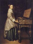 Girl at a virginal