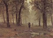 Rain in an Oak Forest