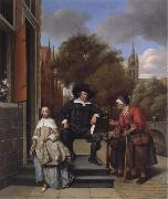 Jan Steen A Delf burgher and his daughter