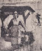 Camille Pissarro Peasant oil painting reproduction