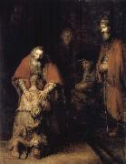 REMBRANDT Harmenszoon van Rijn The Return of the Prodigal Son oil painting reproduction