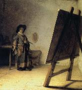 A Young Painter in His Studio