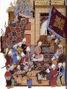 Joseph,Haloed in his tajalli,at his wedding feast