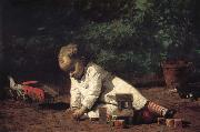 Thomas Eakins The Baby play on the floor