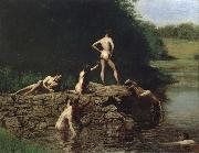 Thomas Eakins Bathing oil painting reproduction