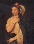 Titian Portrait of a Young Woman oil painting reproduction