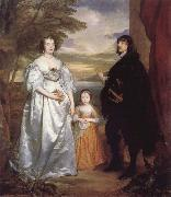 James Seventh Earl of Derby,His Lady and Child