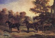 Benjamin Cam Norton Carriage oil painting