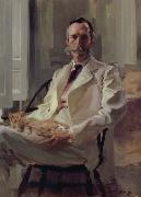 Cecilia Beaux Man with the Cat oil painting