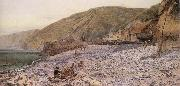 Charles Napier Hemy Among the Shingle at Clovelly oil painting
