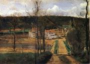 Corot Camille The houses of cabassud