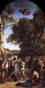 Corot Camille The Baptism of Christ oil painting reproduction
