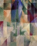 Delaunay, Robert The Window towards to City oil painting