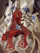 Delaunay, Robert Eiffel Tower  Red tower oil painting