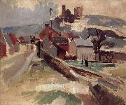 Delaunay, Robert Study of Road and church oil painting