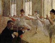 Edgar Degas Dancing school